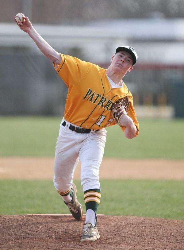 Ward Melville's Joseph Barbieri (13) delivers a pitch