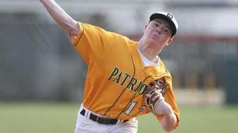Ward Melville's Joseph Barbieri (13) delivers a pitch
