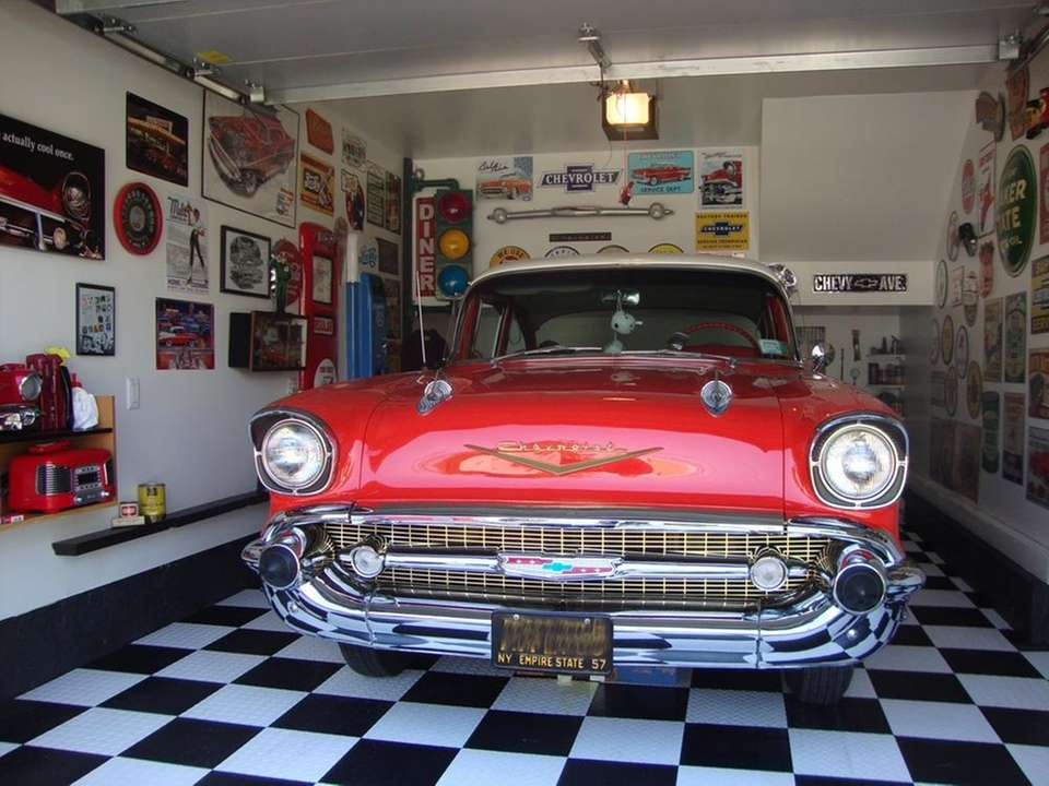 in the garage bel air
