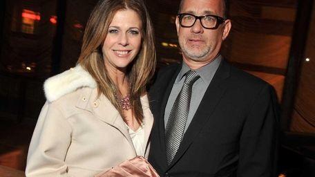 Rita Wilson and husband Tom Hanks attend the