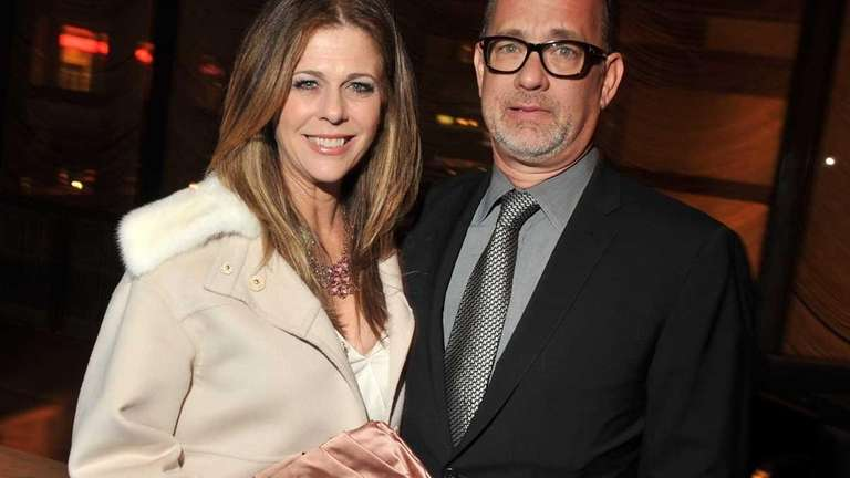 Rita Wilson and husband Tom Hanks attend the