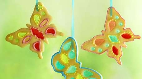 The stained glass butterfly cookies recipe can be