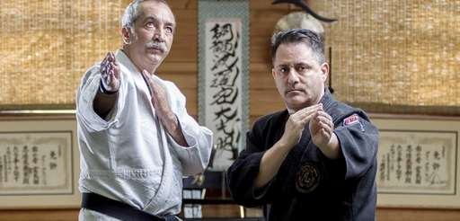 Third Eye Insight sensei Devin Fernandez, left, with