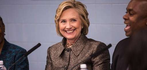 Former Secretary of State Hillary Clinton is pictured