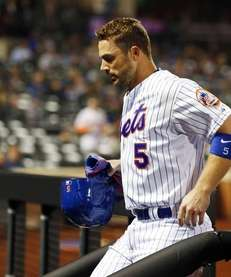 David Wright of the New York Mets leaves