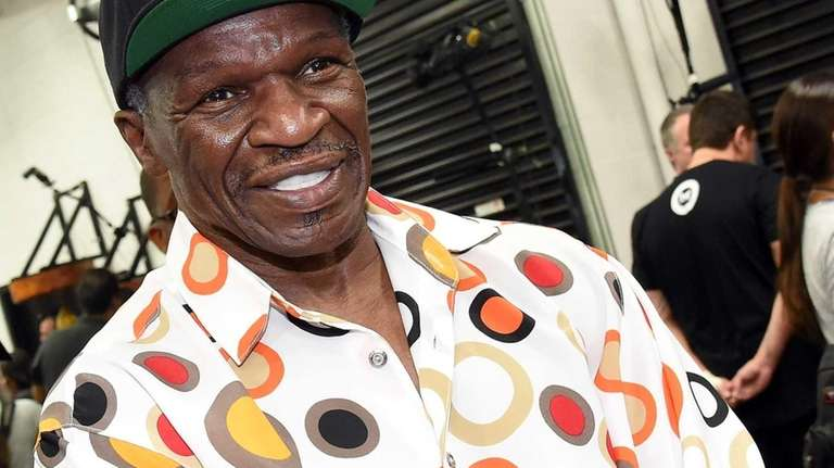 Trainer Floyd Mayweather Sr. looks on as his