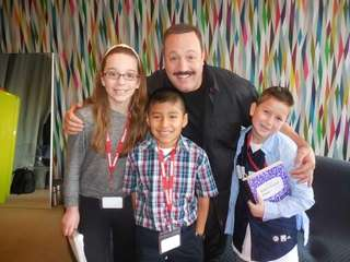 "Actor Kevin James (""Mall Cop 2"") with Kidsday"