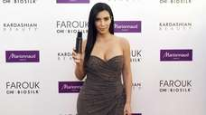 Kim Kardashian during an event to present her