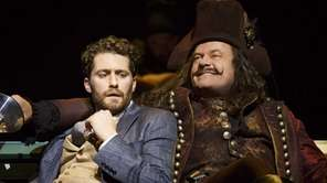 "Matthew Morrison and Kelsey Grammer in ""Finding Neverland."""