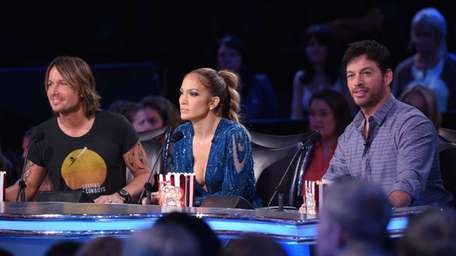 From left, judges Keith Urban, Jennifer Lopez and