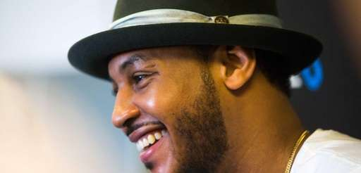 New York Knicks Carmelo Anthony speaks to the