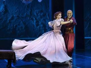"Kelli O'Hara and Ken Watanabe in ""The King"