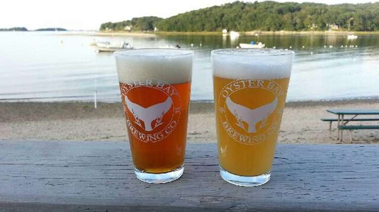 Two craft beers from the Oyster Bay Brewing
