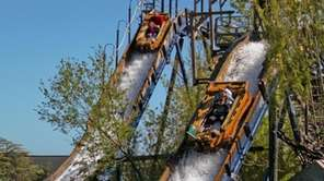 The Adventure Falls Long Flume opened in 2001,