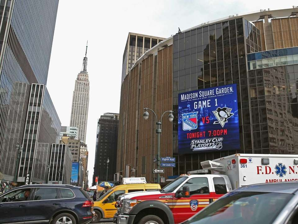 A general view of Madison Square Garden and