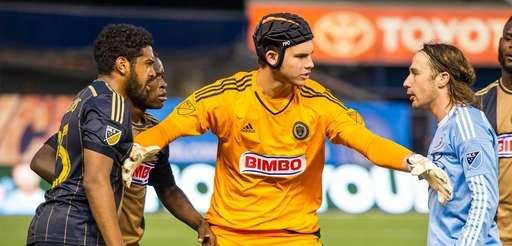 Philadelphia Union defender Sheanon Williams and New York