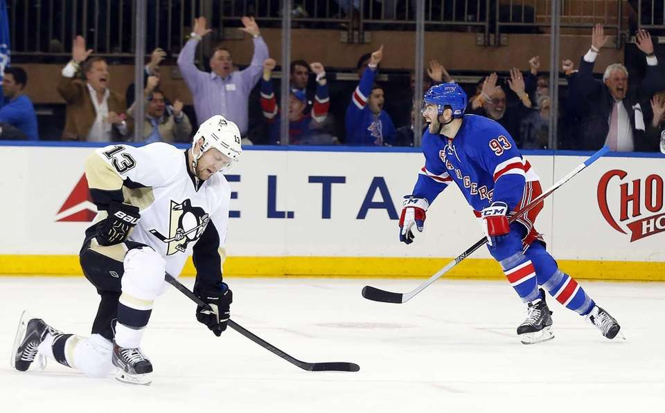 Keith Yandle of the New York Rangers celebrates