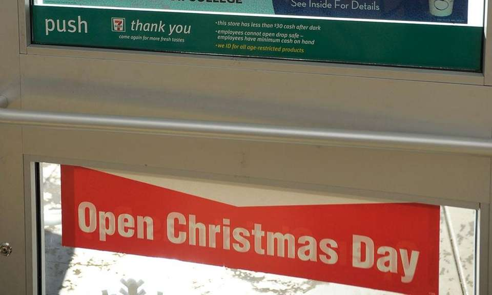 While most retailers close on Christmas day, 7-Eleven