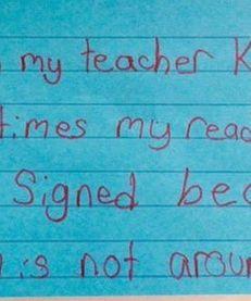 Schwartz asked her third grade students to share