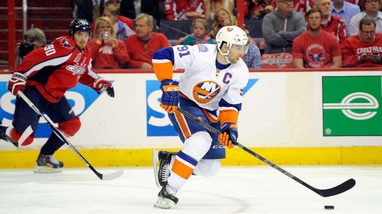 John Tavares of the New York Islanders brings