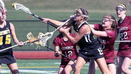 St. Anthony's Taylor Mitchell scores a goal during