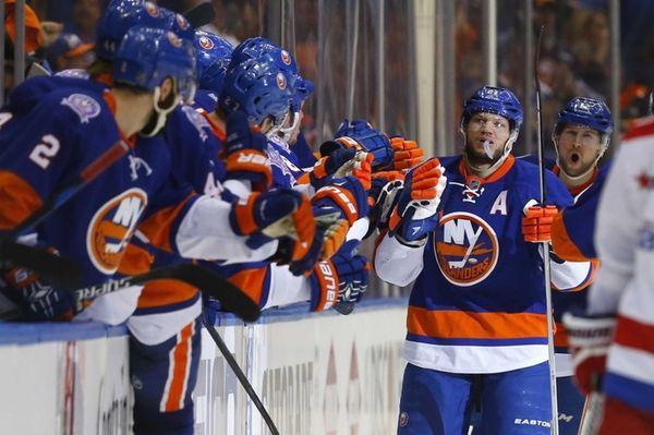 Kyle Okposo #21 of the New York Islanders