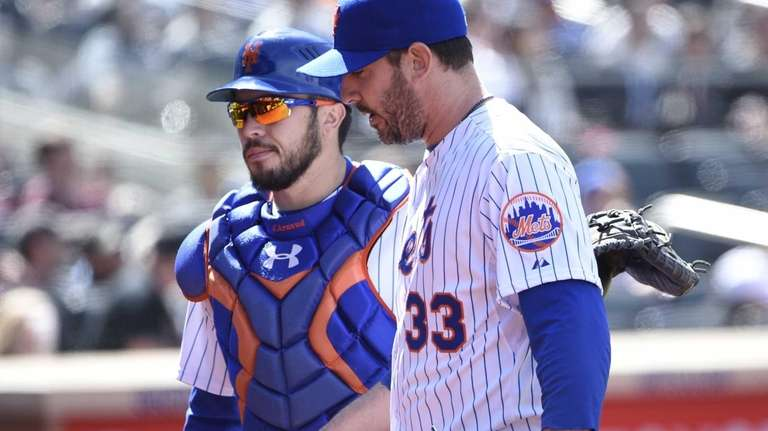 New York Mets starting pitcher Matt Harvey and
