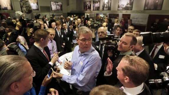 Jeb Bush as he appeared in New Hampshire
