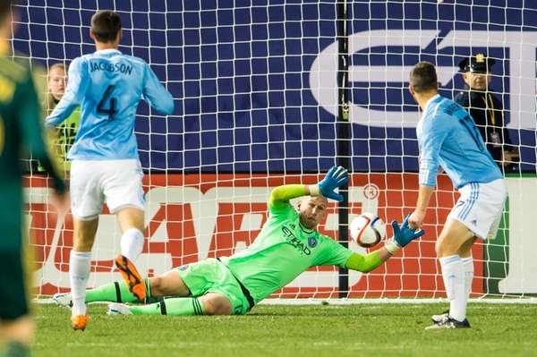 New York City FC goalkeeper Josh Saunders (12)