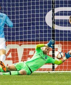 New York City FC goalkeeper Josh Saunders (12)