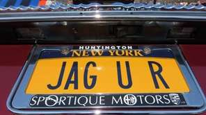 Stephen Sager, of Huntington, sports this plate on