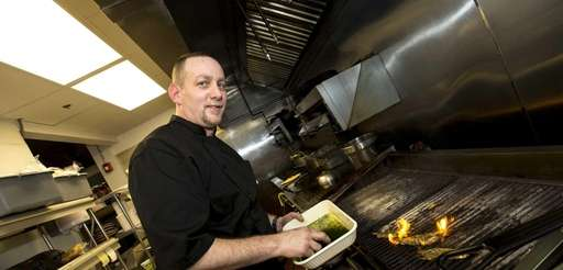 When he was executive chef at Joe's Garage