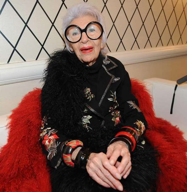 Designer Iris Apfel attends the HSN Fashion Week