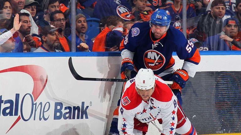 Johnny Boychuk #55 of the New York Islanders