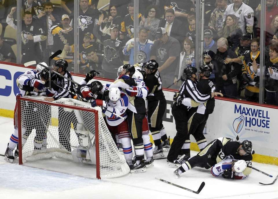 The Pittsburgh Penguins and the New York Rangers