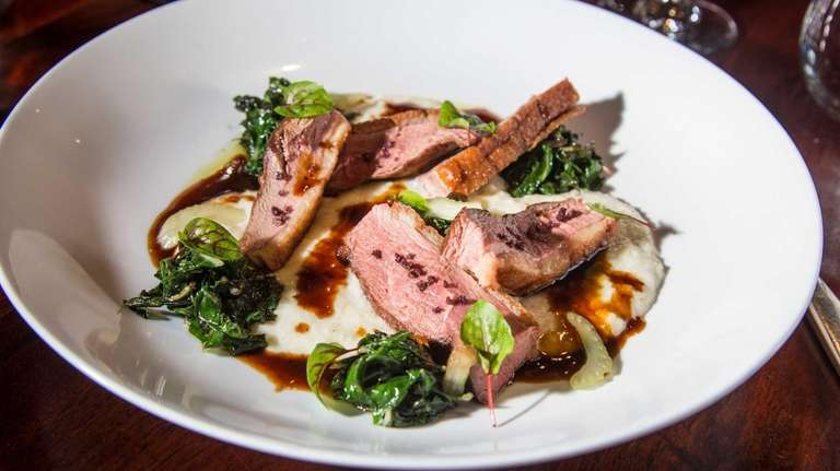 Seared Hudson Valley duck breast is among the