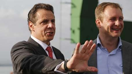 New York Gov. Andrew Cuomo and Charles A.
