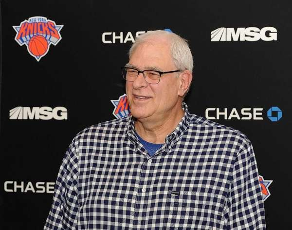 New York Knicks president Phil Jackson address the