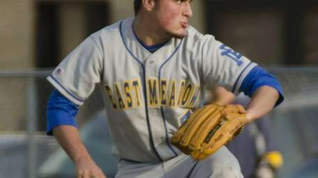 East Meadow's Brian Kavanagh throws during a game