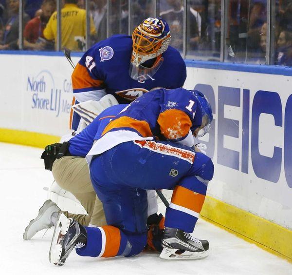 Lubomir Visnovsky of the New York Islanders is