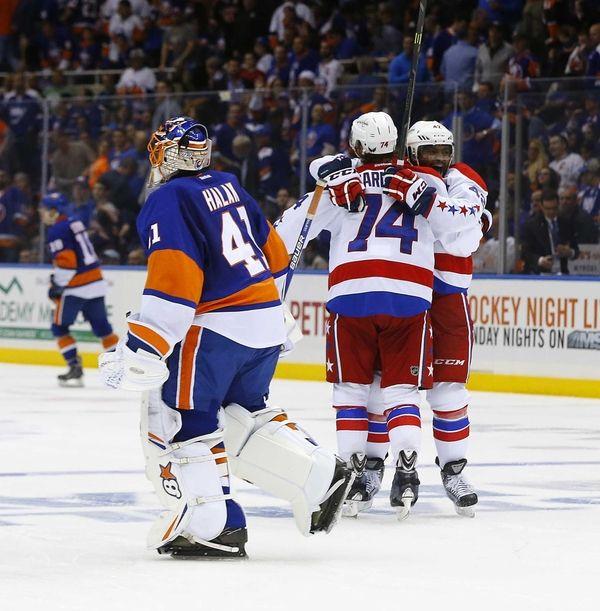 Jaroslav Halak of the New York Islanders skates