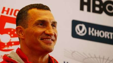 Wladimir Klitschko at the final news conference for