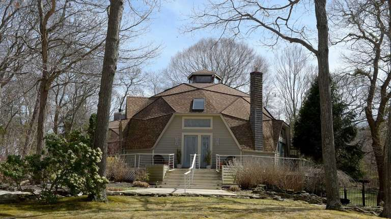 This geodesic dome home in Baiting Hollow was