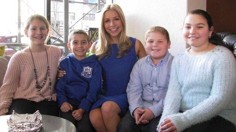 Kidsday reporters Kiera Kalinsky, Alex Aiello, Nick Fiorio