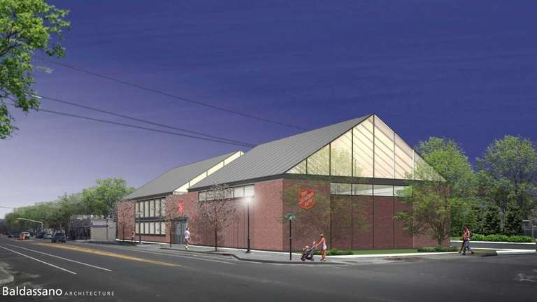 A rendering for the proposed community center and
