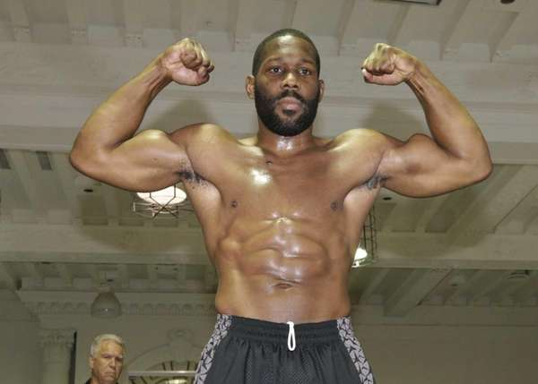 Boxer Bryant Jennings poses for photographs as he