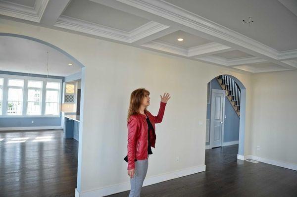 Margaret Biegelman, of Douglas Elliman Real Estate, shows