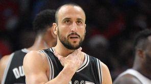 Manu Ginobili #20 of the San Antonio Spurs