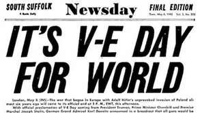 Newsday cover from World War II