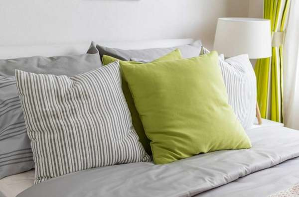 Freshen up your room with brightly colored pillows